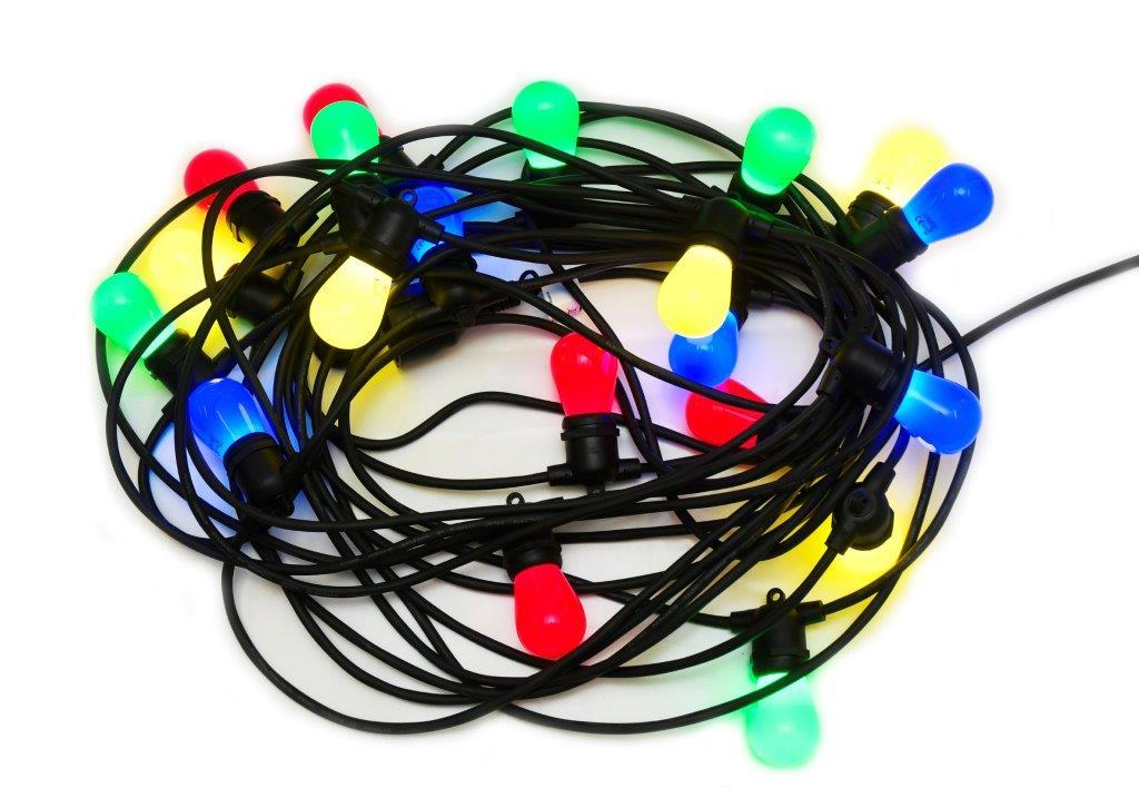 Ljud & Ljus: Färgad ljusslinga