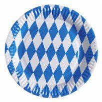 Tillbehör: Tallrik med blåvitt mönster